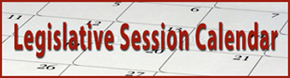 Legislative Session Calendar