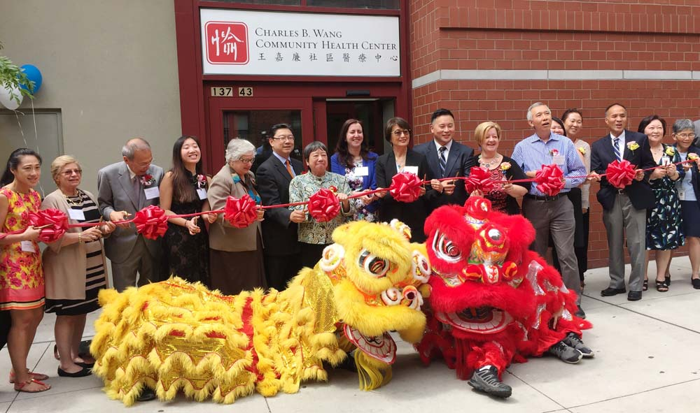 Assemblywoman Nily Rozic attended the ribbon cutting ceremony for the grand opening of Charles B. Wang's Community Health Center.