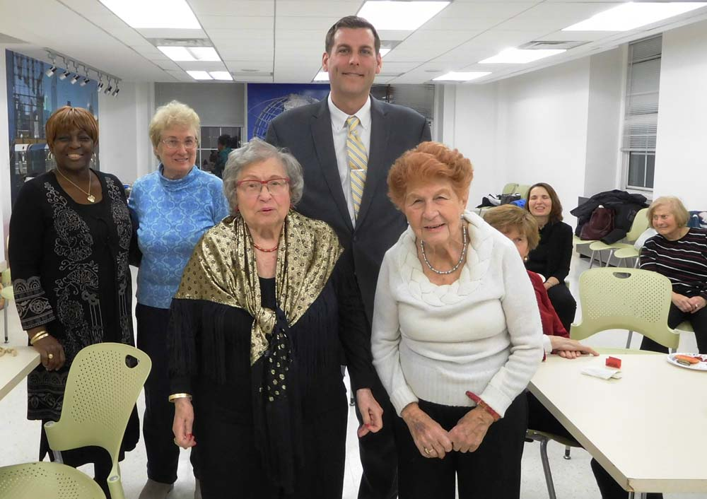 On December 13, 2017, Assemblyman Braunstein attended the Center for the Women of New York's annual holiday party.