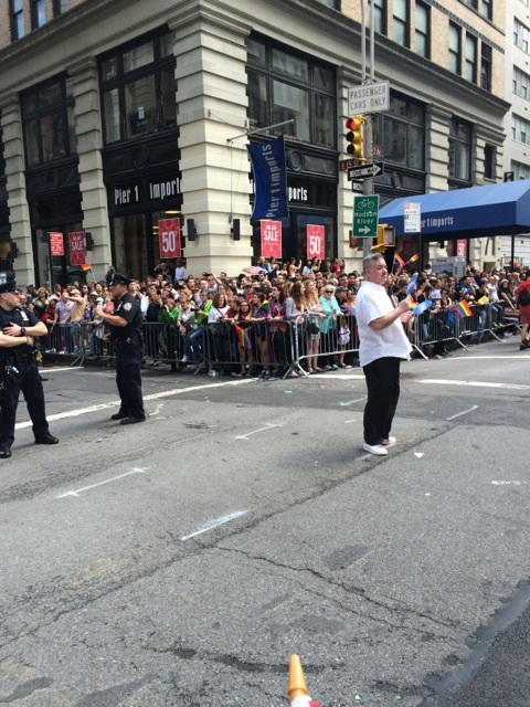 The crowd at the Pride Parade on June 28th, 2015