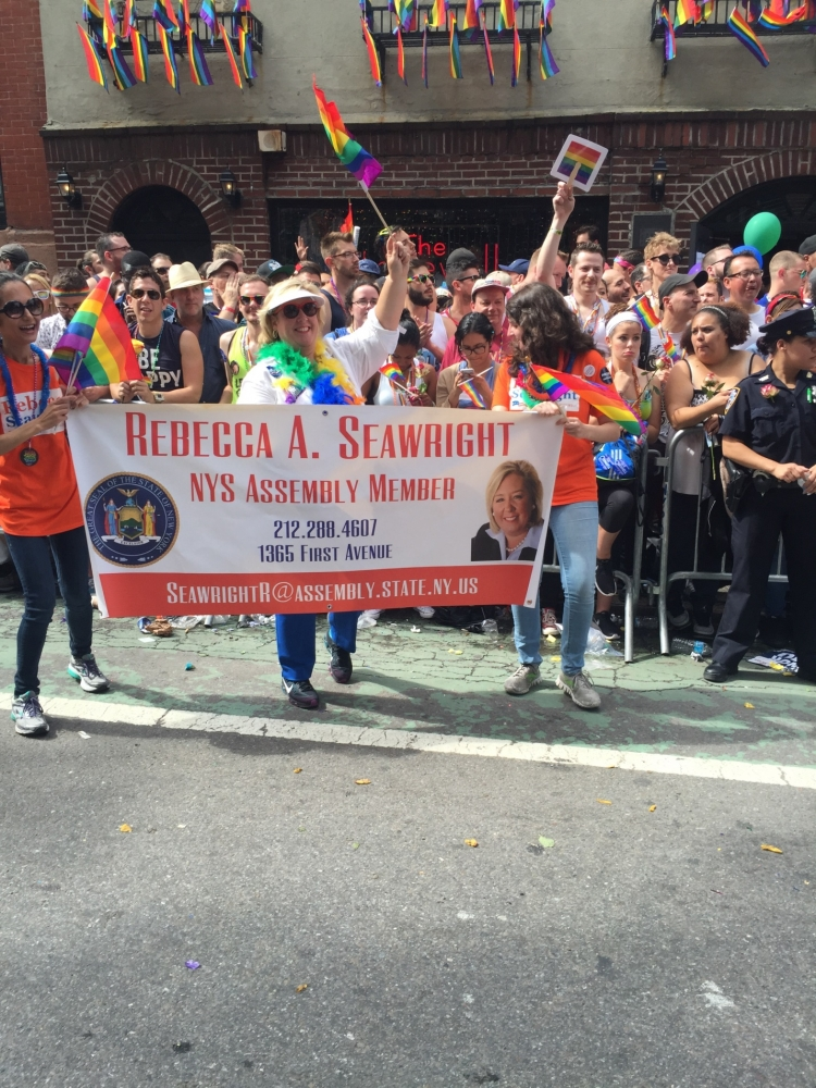 Assemblymember Seawright at The Stonewall Inn during the 2015 Pride Parade on June 28th, 2015