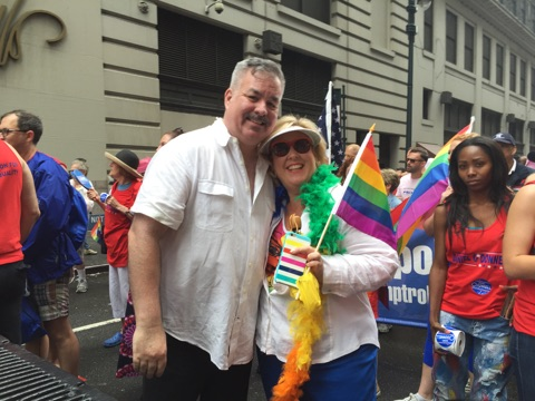 Assembly Member Seawright celebrates Pride with Assembly Member Daniel O'Donnell