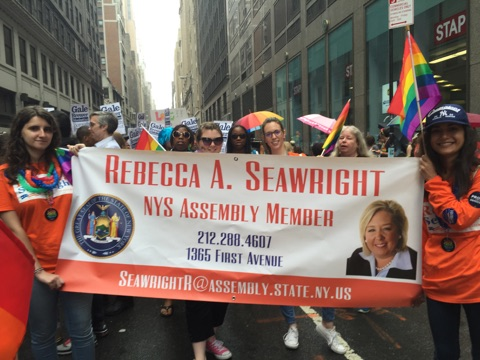 Assembly Member Seawright represented at the  Pride Parade 2015