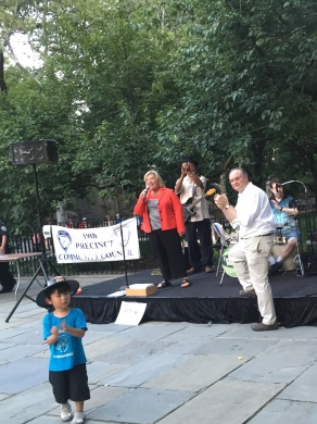 National Night Out, August 4, 2015---Carl Schurz Park, NYC---Assembly Member Seawright speaks to the crowd at the 19th Precinct Community Council's National Night Out.