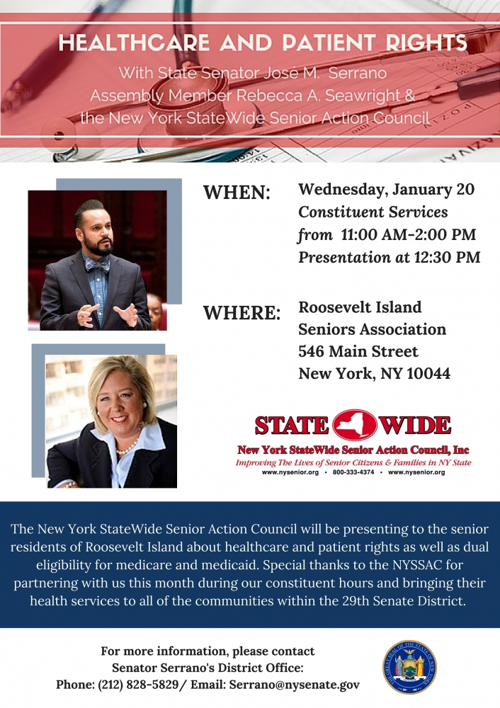 "<a href=""/mem/Rebecca-A-Seawright/story/63276"">Wednesday, January 20-Roosevelt Island Healthcare and Patient Rights Presentation</a>"