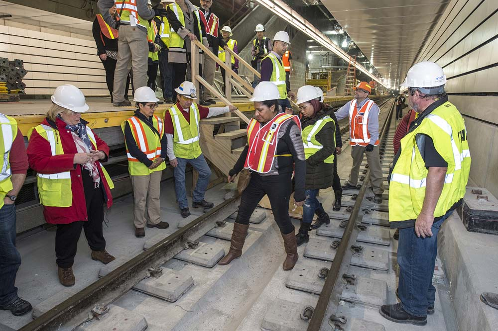 "On Saturday March 12, Assembly Member Seawright toured the Second Avenue Subway project. Seawright said, ""This budget season, it is critical that the MTA is fully funded so that projects like the Second Avenue Subway can be completed on schedule. It is critical to close the gaps in transportation infrastructure by funding projects like the Second Avenue Subway which will relieve the burden on the ridership and on neighboring transit systems."""