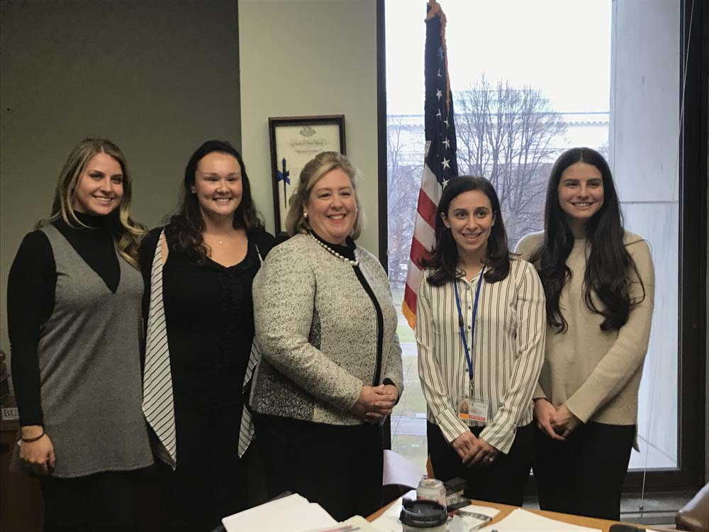 "March 7, 2017 – Touro College students Ellen Zak, Melanie Bram, Shulamit Green, and Gabrielle Levy students met with Assembly Member Seawright in Albany to discuss legislation pertaining to the field of occupational therapy including early intervention and the new Insurance Bill (<a href=""/leg/?bn=A. 298&term=2017"" target=""blank"">A. 298</a>).<br />"