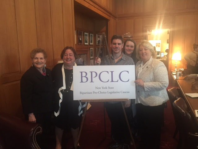 (From left)Assembly Member Ellen Jaffee, Senator Liz Krueger, Garin Christensen, Erika Christensen, and Assembly Member Rebecca Seawright discussed measures to advance the BPCLC agenda in the Legislature.<br />Seawright attended the Bipartisan Pro-Choice Legislative Caucus Meeting to discuss the status of the Reproductive Health Act, a bill that has passed the Assembly.  Senator Liz Krueger Co-founded the BPCLC with Assembly Member Ellen Jaffee. Although we are more than four decades after the Roe V. Wade decision, New York's laws have failed to keep pace with the Constitution.  New York does not have a law recognizing a woman's affirmative right to make reproductive health care decisions.  It continues to regulate abortion as part of the penal code rather than the public health code. <br />