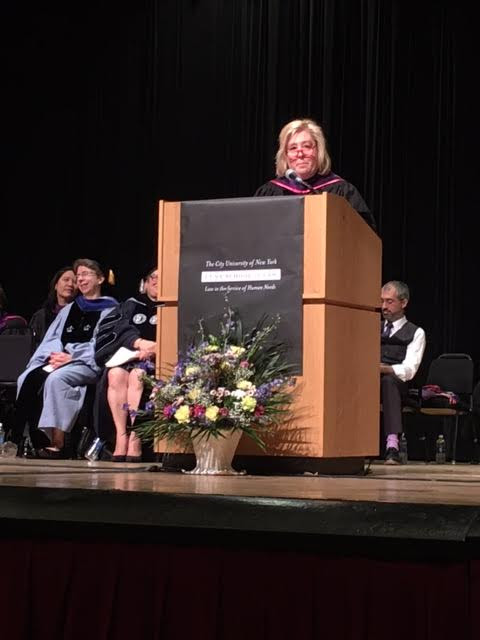 "On Friday, May 12, Assembly Member Seawright gave encouraging advice to the CUNY School of Law class of 2017. Seawright is an alumni of the school ('92) and Chair of the Board of Visitors.<br />""You all have worked so hard to find yourselves in these seats today. The bonds and connections you have formed will last a lifetime. Continue to work hard after the Bar Exam and take time to serve the public as you practice law in the service of human needs,"" Seawright said.<br />"