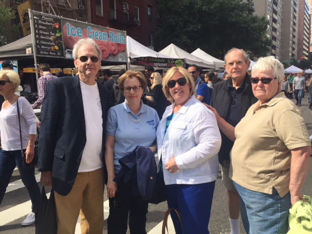 At the First Avenue Festival, Seawright spoke to constituents on a number of issues of concern such as affordable housing, transportation, services for seniors, and overdevelopment on the Upper East Side. Seawright is pictured here with Community Board 8 Member Dave Rosenstein, Vice President of the East Sixties Neighborhood Association Judy Schneider, Assembly Member Rebecca Seawright, President of the East Sixties Neighborhood Association Barry Schneider, and President of the East 86th Street Association Elaine Walsh. <br />