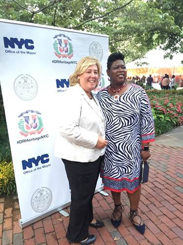 "Rebecca Seawright with Bronx District Attorney Darcel D. Clark.<br /><br />Seawright attended the Dominican Heritage Month Celebration on Tuesday. ""I am incredibly proud to live in a city that truly appreciates and celebrates all the diverse backgrounds that make us inclusive, progressive and a national leader in embracing people of all nationalities. The Dominican Heritage celebration highlighted important milestones and we heard from distinguished speakers who are and will continue to inspire generations to come,"" <strong>said Assembly Member Seawright</strong>.<br />"