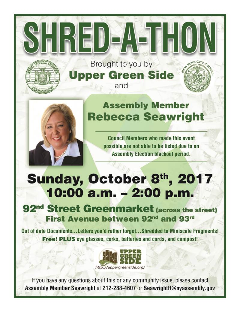 Join us for a shred-a-thon on October 8, 2017!<br />