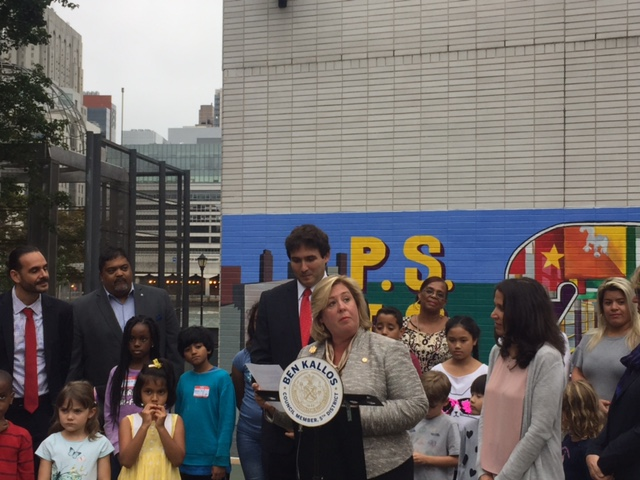 "On Monday, September 18, Assembly Member Seawright joined Council Member Ben Kallos, Principal Mandana Beckman and Roosevelt Island families at PS/IS 217 for a ribbon cutting ceremony to open the doors of the Child Center of NY to Roosevelt Island as the Beacon after-school program provider. In April of 2017, the New York City Department of Youth and Community Development (DYCD) issued a request for proposal (RFP) for providers to offer Beacon after-school programming at the Roosevelt Island school to a growing population of school-aged children on the Island. By mid-summer, DYCD had selected Child Center of NY.  The Child Center of NY is based in Queens New York and has been a children's care provider since 1953. Each year its services reach more than 26,000 children and families across New York City.<br />""I offer my welcome to The Child Center of NY, a new member of the Roosevelt Island Community. They will play a vital role in educating our young and in providing critical resources to hundreds of families. As a Member of the Assembly Education Committee, I am committed to working to obtain necessary resources and funding in Albany so that programs like this ensure that every child in our community has an equal opportunity in shaping the future of our city and our great state of New York,"" said Assembly Member Rebecca A. Seawright.<br />"