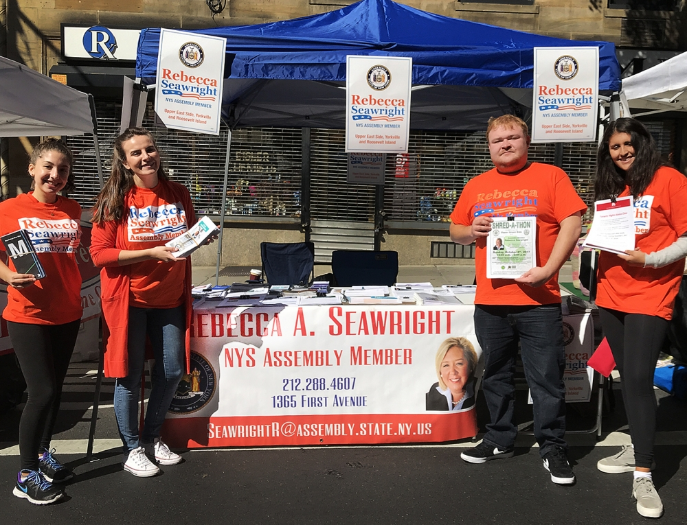 On Sunday, October 1, Assembly Member Seawright, staff and volunteers brought resources to the community at the 92nd Street Y, Lexington Avenue Street Fair. <br />