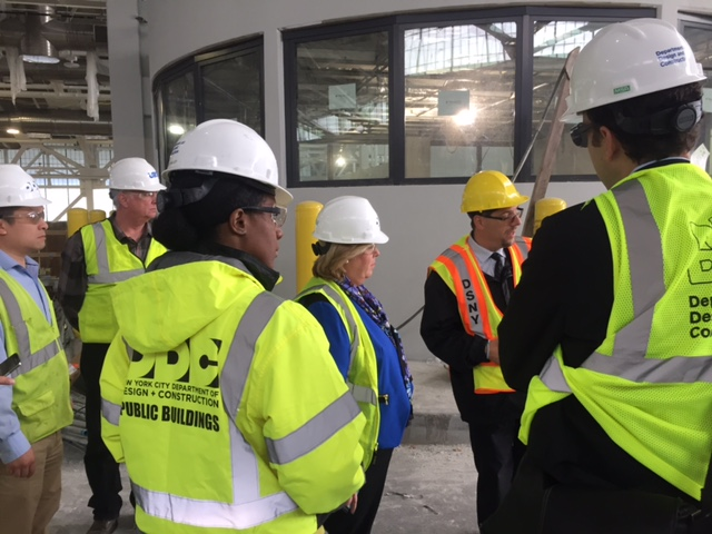 Today, October 13, Seawright inspected the site of the Waste Transfer Station at East 91st Street.  She questioned the construction team and City officials from the New York City Department of Design and Construction and the Department of Sanitation regarding concerns posed by the community in relation to the status of the East 92nd Street ramp and the air quality monitoring.