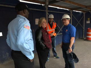 "A fire was extinguished on Sunday, October 22 in the afternoon on the lower level of the East 91st Street Waste Transfer ‎Station construction site according to Skanska and City Department of Design and Construction representatives who spoke with <strong>Assembly Member Rebecca Seawright</strong> during her on-site inspection on the evening of October 22. The fire took place on a pedestrian walkway and the cause was not determined at the time. ""I visited the site after hearing from nearby constituents concerned about both the fire and the air quality surrounding the construction area. We are of course grateful that no one was harmed. Nevertheless, there should be a full investigation by the appropriate governmental agencies responsible for safety oversight,"" said <strong>Assembly Member Seawright</strong>, who chairs the Subcommittee on Consumer Fraud Protection. ""We remain deeply concerned about the impact of the Waste Transfer Station, being constructed adjacent to Asphalt Green, which serves many families with young children,"" said <strong>Seawright</strong>, who will be consulting with other elected officials on further actions needed to address safety concerns.<br />"