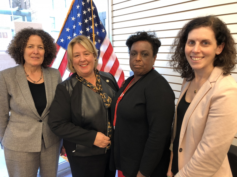 Seawright meets with Mayor's Office of Domestic Violence Commissioner Cecile Noel regarding sexual assault on college campuses.<br />