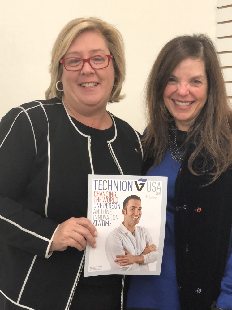 Assembly Member Rebecca Seawright and  Amercian Technion Society Senior Advisor Tova Kantrowitz meet to discuss programming and partnerships at the Roosevelt Island Campus.<br />