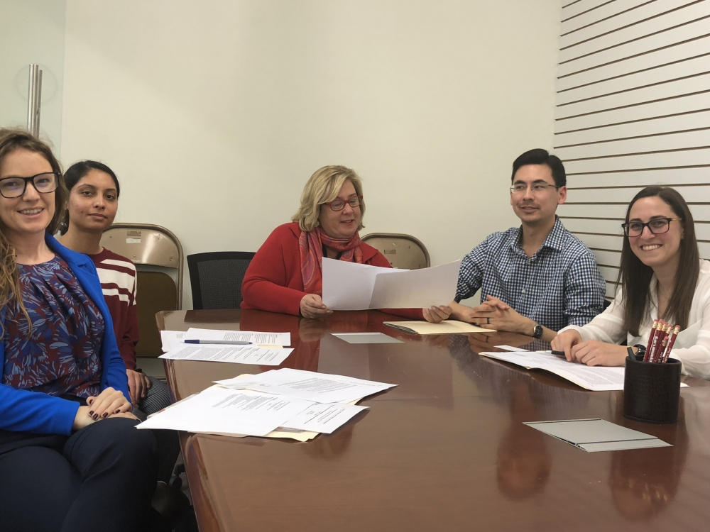 Seawright Works with Pharmacists from NYC Society of Health System Pharmacists on prospective legislation in Albany. <br />