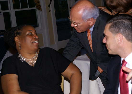 Assemblyman Santabarbara with Congressman Paul Tonko and keynote speaker Dr. Deidre Hill-Butler, Associate Professor at Union College, at the 75th Anniversary celebration of The Carver Community Center in Schenectady.