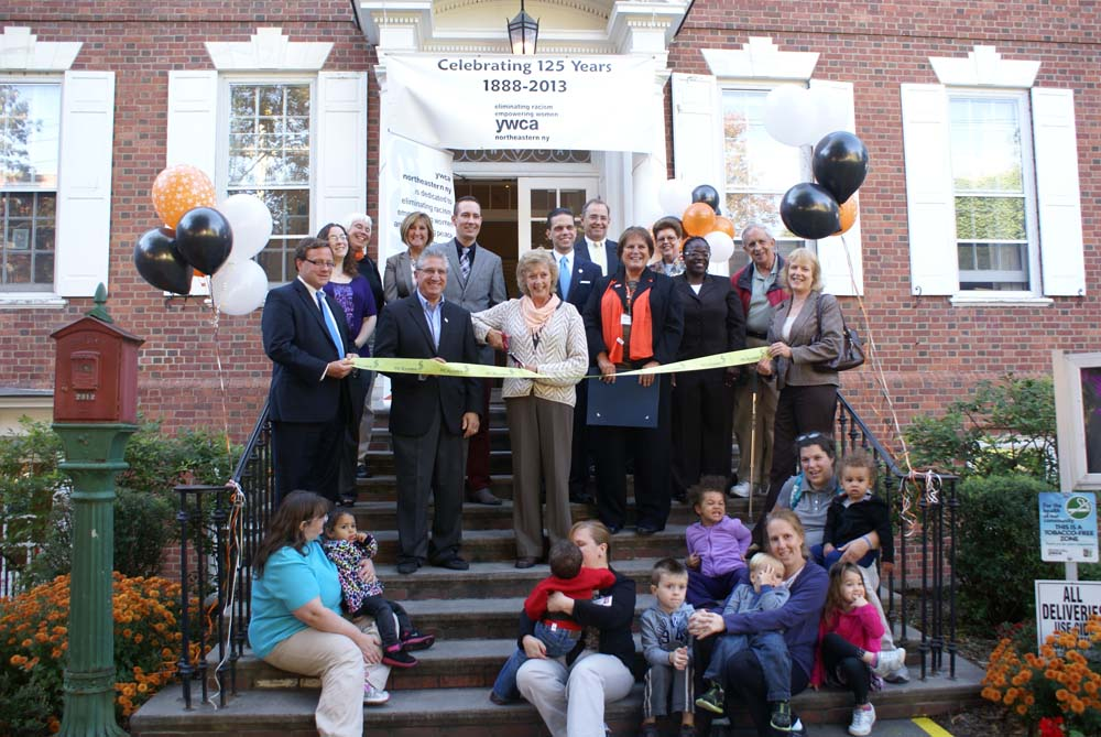 Assemblyman Santabarbara attends the Ribbon Cutting for the YWCA of Schenectady in celebration of their 125th Anniversary.