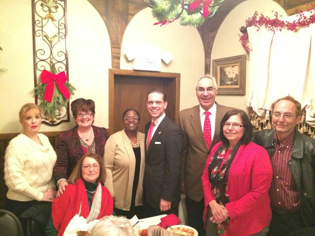At the Mont Pleasant Neighborhood Association Holiday Dinner