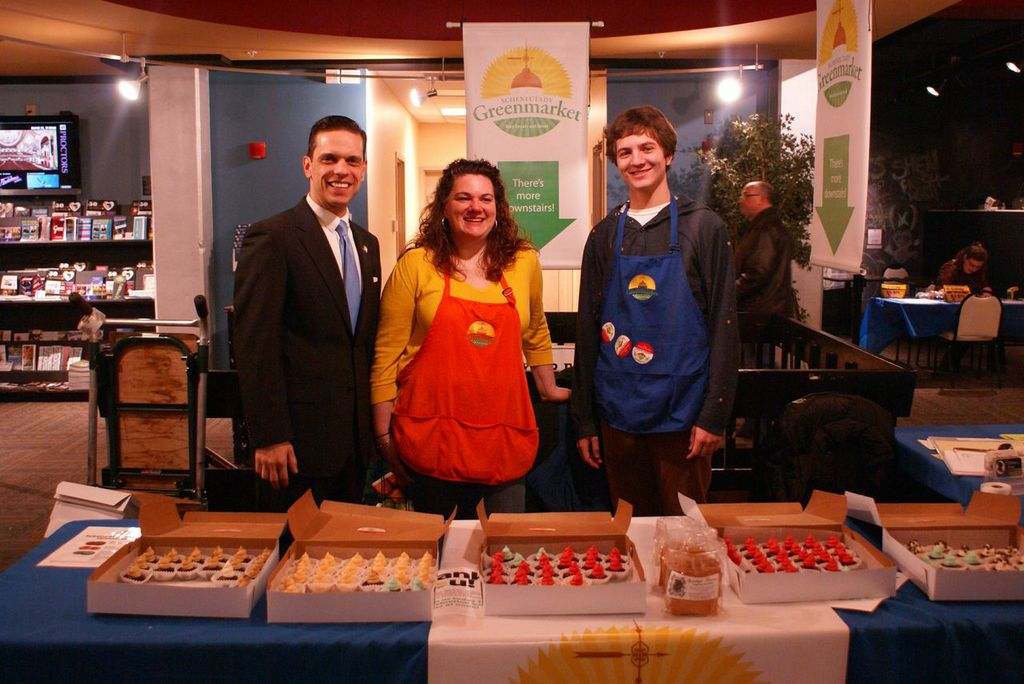 March 2nd, 2014 - Assemblyman Santabarbara joins the celebration for the 5th Anniversary of the Schenectady Green Market.