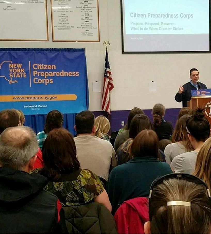 Citizens Preparedness Training at the Duanesburg High School on March 17th 2017 with the New York National Guard, the Division of Homeland Security and the State Office of Emergency Management here to help our local community prepare for severe weather events that affect our area.<br />