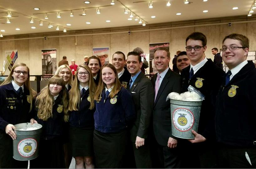 Joined by Future Farmers of America from Montgomery County at Taste NY, March 7th, 2017.<br />