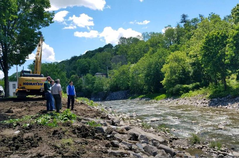 On June 2nd, 2017, Assemblyman Santabarbara toured the Village of Fort Plain with local officials and representatives from the DEC to talk about flood mitigation.<br /><br />
