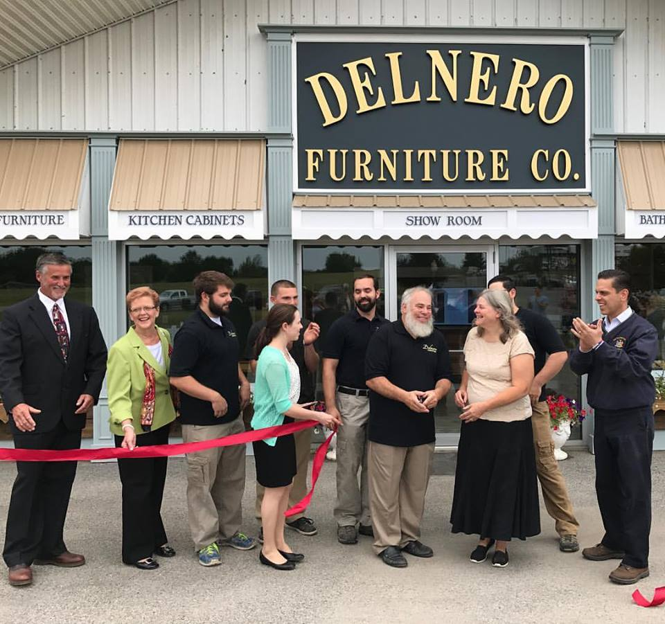 Assemblyman Santabarbara congratulates the Delnero family, on the grand opening of Delnero Furniture Company a 4th generation family, at their new location in the Village of Nelliston on August 29<sup>th</sup>, 2017.<br />