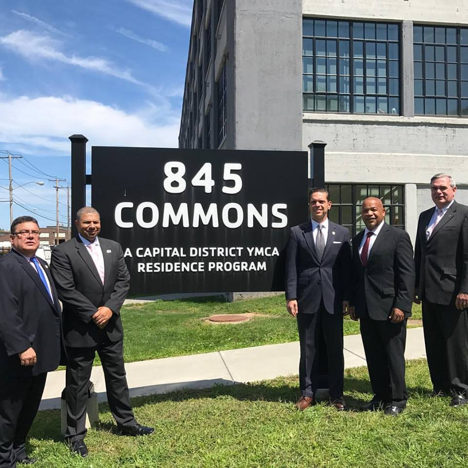 Great tour of the Capital District YMCA veteran housing project at 845 Commons in the City of Schenectady today with NYS Assembly Speaker Carl Heastie on August 17<sup>th</sup>, 2017<br />