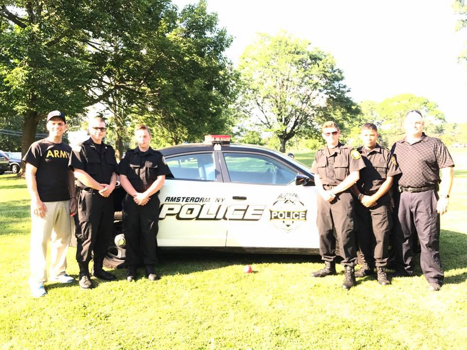 Amsterdam community comes together at #NationalNightOut to support police-community partnerships that help keep neighborhood safe on August 2, 2017<br />