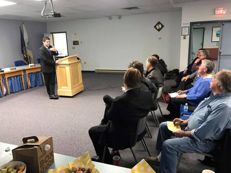 "In April 2017, Assemblyman Jones hosted a ""Breakfast with Billy"" in Plattsburgh. He answered constituent questions about the state budget and discussed community concerns."