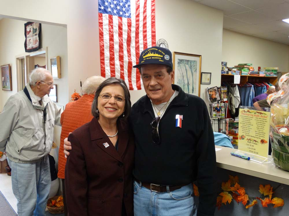 November 5, 2014 – Assemblywoman Donna Lupardo attends a Veterans Day Lunch at the Broome West Senior Center to honor men and women who served in our Armed Forces. Pictured with Assemblywoman Lupardo