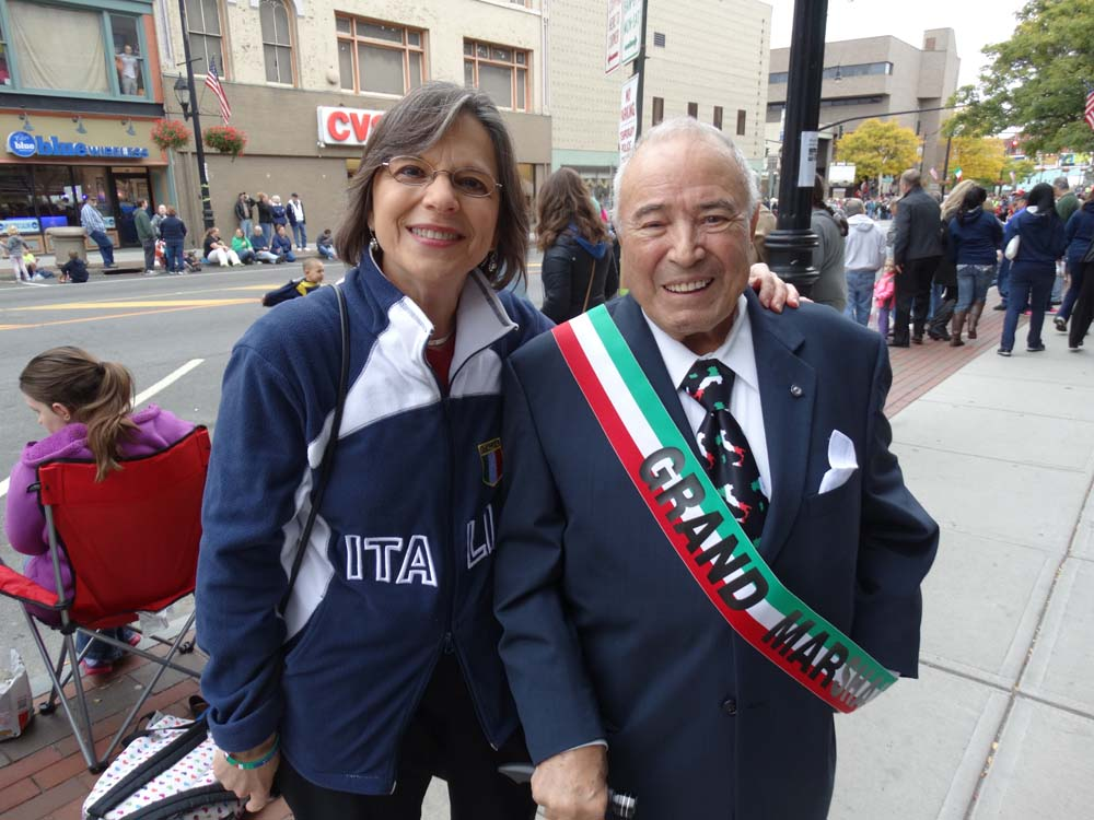 October 13, 2014 – Assemblywoman Donna Lupardo, President of the New York Conference of Italian-American State Legislators, enjoys the annual Columbus Day Parade and Tournament of Bands in Downtown Bi