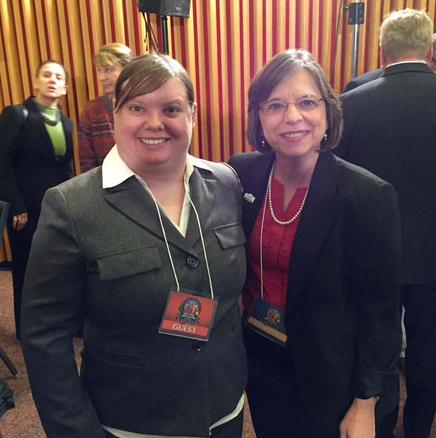 October 7, 2015 – Assemblywoman Lupardo and Kristen Lyons, co-owner of Binghamton Brewing Company, attend the annual Beer, Wine, Spirits, and Cider Summit in Albany.