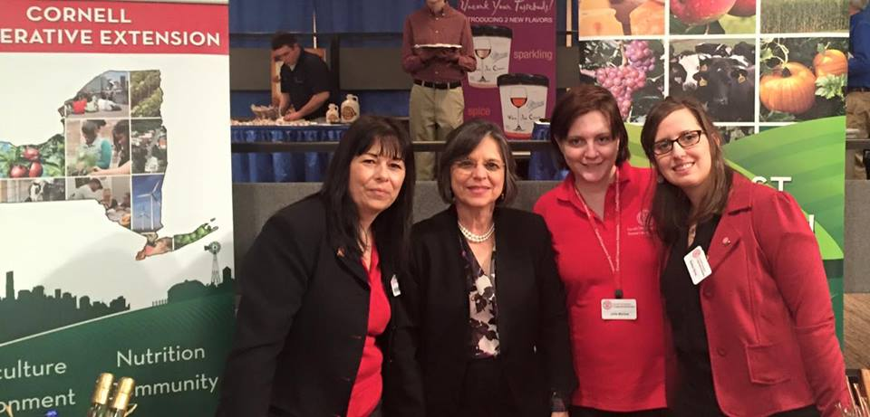 February 29, 2016 – Assemblywoman Lupardo with representatives from Cornell Cooperative Extension at the TasteNY reception.