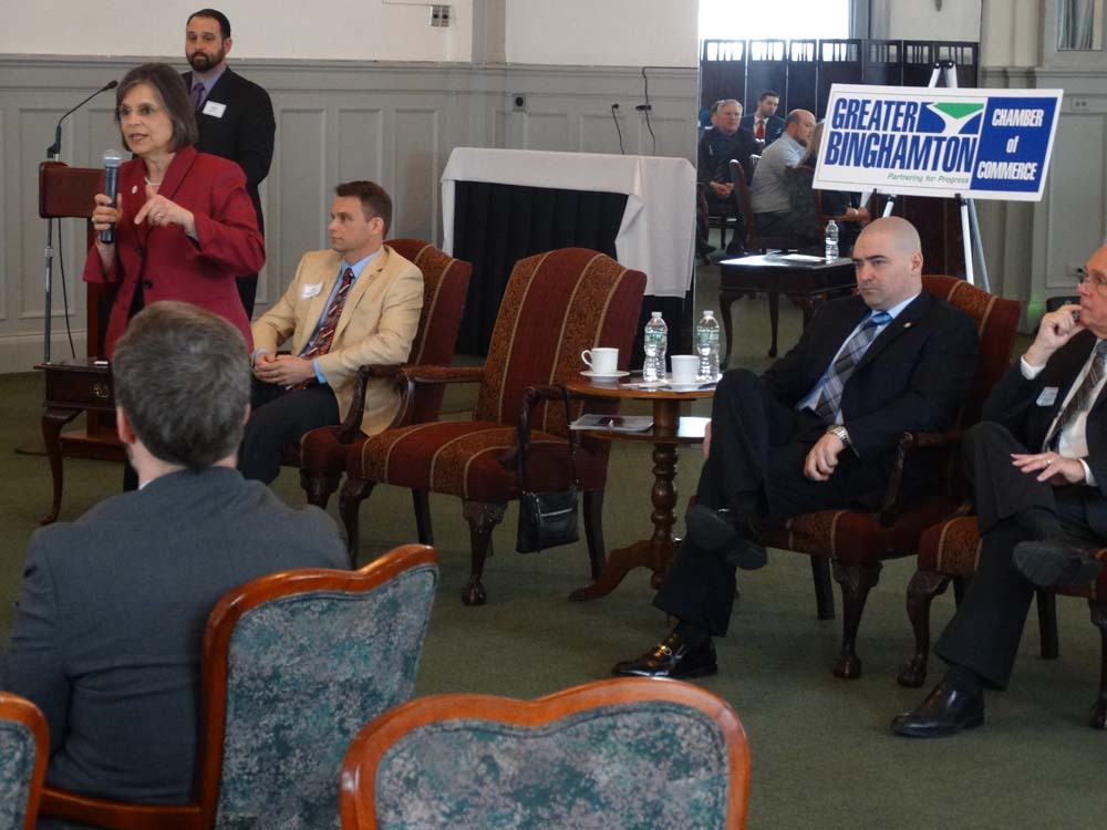March 11, 2016 – Assemblywoman Lupardo joins fellow state elected officials at a breakfast program with the Greater Binghamton Chamber of Commerce.
