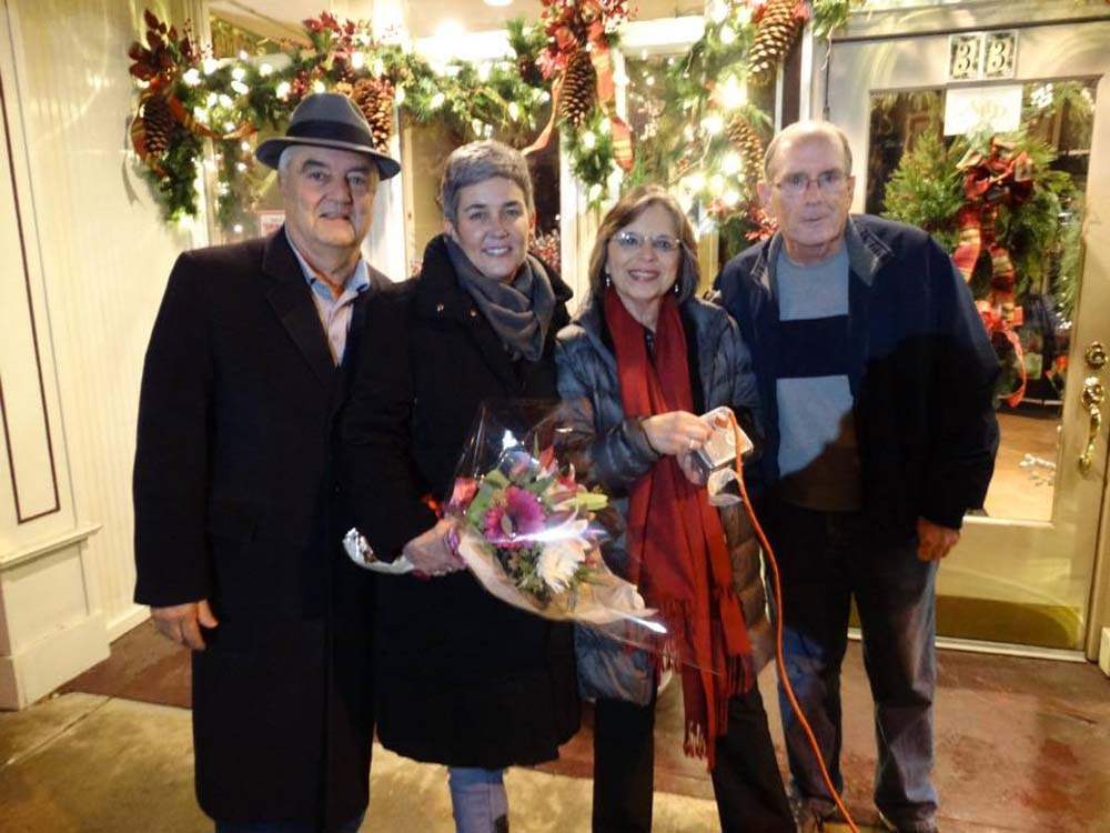 November 29, 2016 – Endicott Mayor John Bertoni and Village Trustees Eileen Konecny and Dave Baker join Assemblywoman Lupardo as Washington Avenue is lit for the holiday season. Lupardo secured a $15,