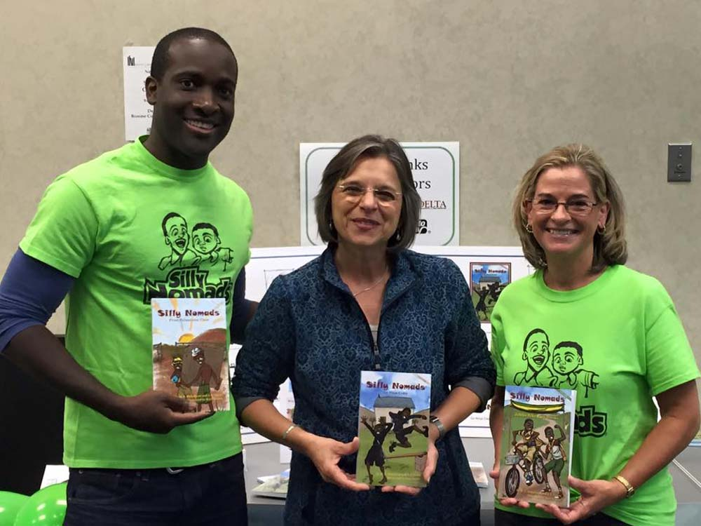 September 25, 2016 – Assemblywoman Lupardo with Marcus Mohalland and Janet Lewis Zelesnikar, local children's authors, at an event celebrating National Adult Education & Family Literacy Week.