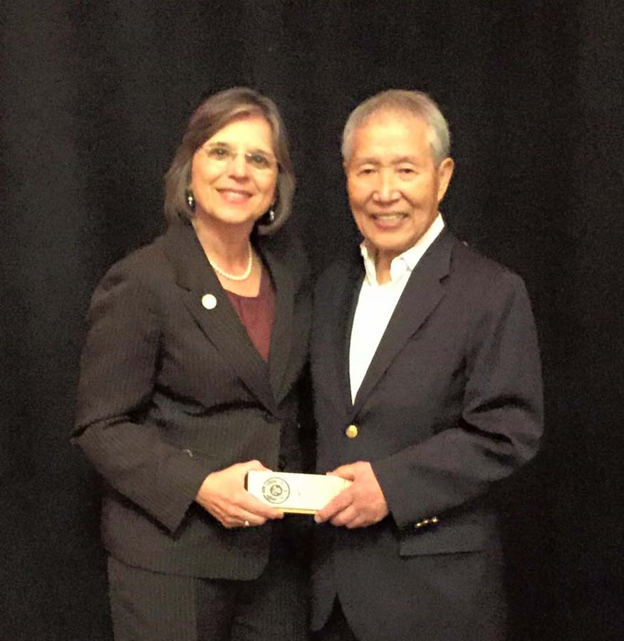 September 18, 2016 – Assemblywoman Lupardo with Master Hidy Ochiai as he celebrated his 50th anniversary of teaching in the US.