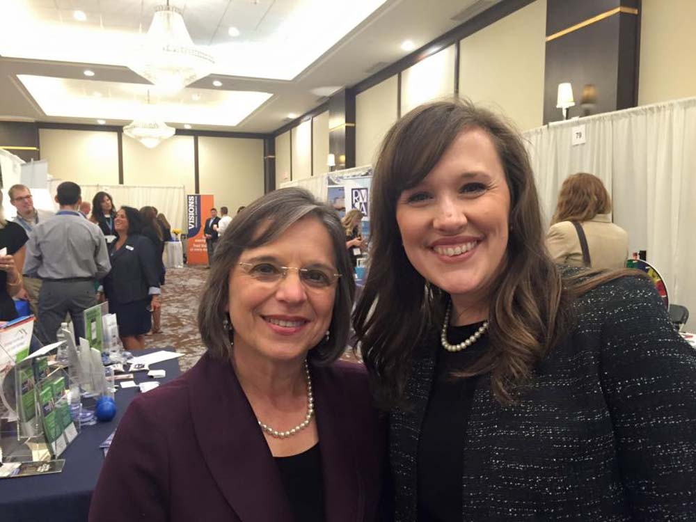 September 15, 2016 – Greater Binghamton Chamber of Commerce President & CEO Jennifer Conway and Assemblywoman Lupardo at the Chamber's annual Business Expo.