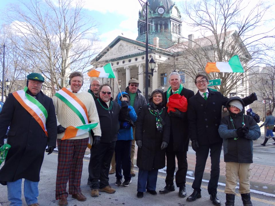 March 4, 2017 – Assemblywoman Lupardo and other local elected officials march in the Binghamton St. Patrick's Day Parade.
