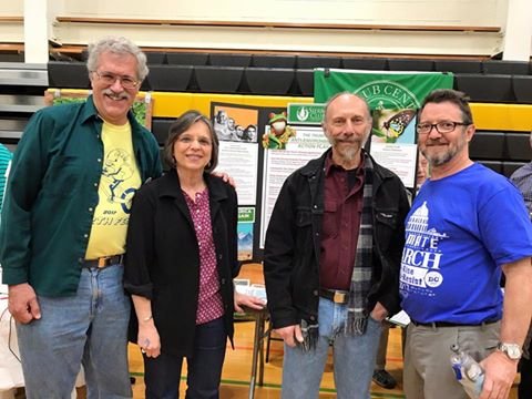 Assemblywoman Lupardo and members of the Susquehanna Group of the Sierra Club at the 2017 EarthFest.