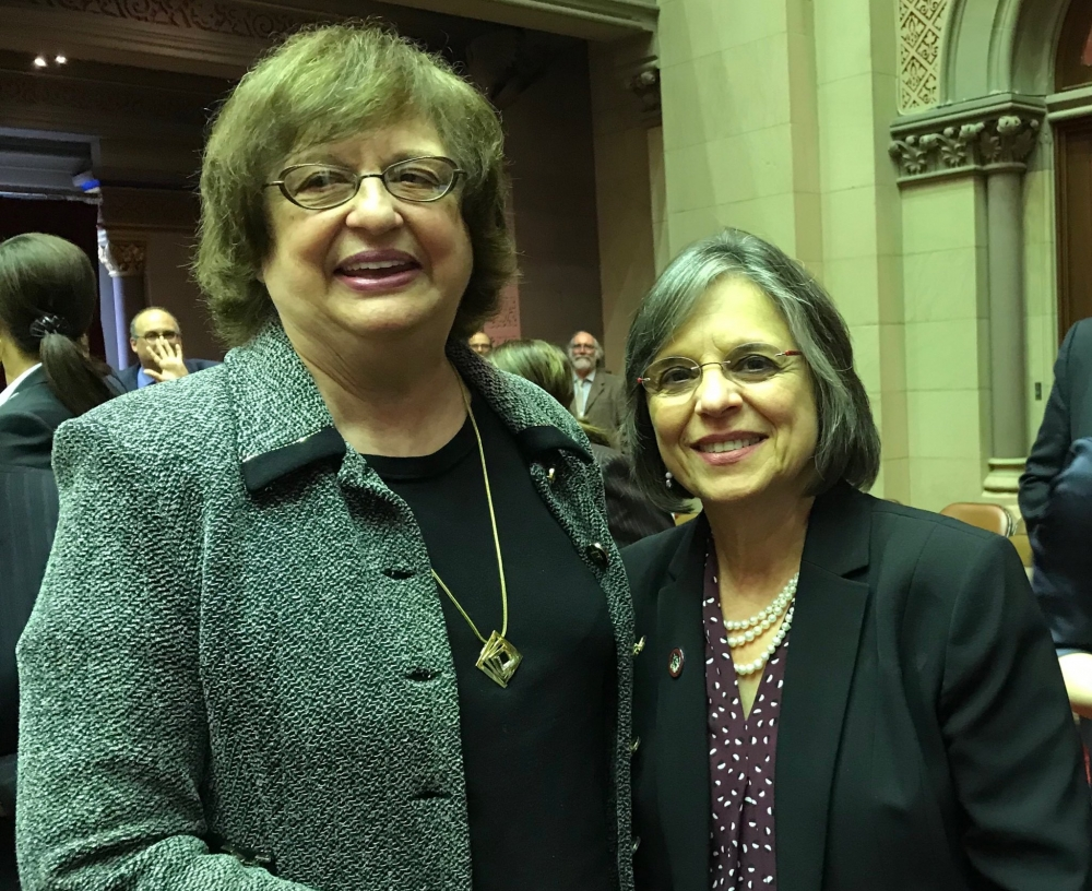 May 22, 2018 – Assemblywoman Lupardo with Attorney General Barbara Underwood after she was appointed as the first woman AG in NYS.