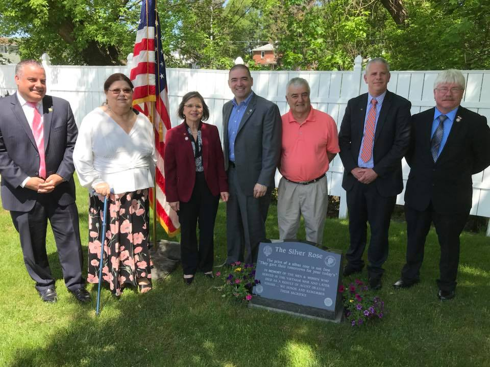 May 18, 2018 – Assemblywoman Lupardo joins members of the local Vietnam Veterans of America chapter and local elected officials for the dedication of a monument honoring those affected by Agent Orange