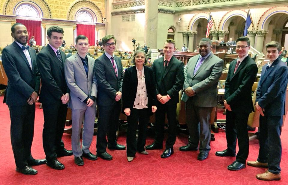 February 13, 2018 – Assemblywoman Lupardo meets with members of Union-Endicott High School's Mock Senate in Albany.