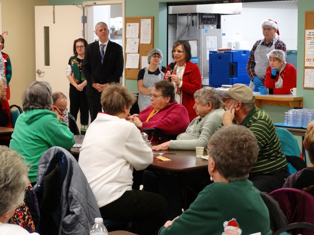 December 20, 2017 – Assemblywoman Lupardo speaks with members of the Broome West Senior Center.
