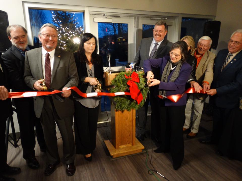 December 5, 2017 – Assemblywoman Lupardo helps cut the ribbon at the new Agriculture Development Center at Cornell Cooperative Extension.